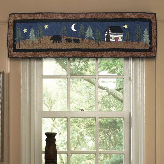 Midnight Bear Valance/Runner