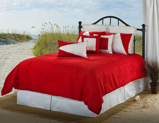 Latitude 12 Red/White Comforter Set