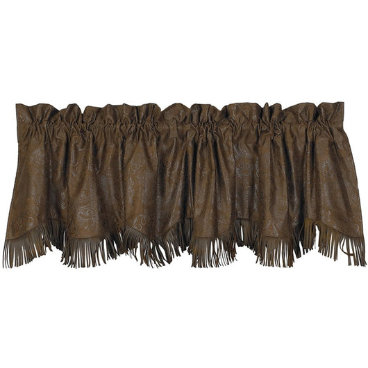 Red Rodeo Faux Tooled Leather Valance