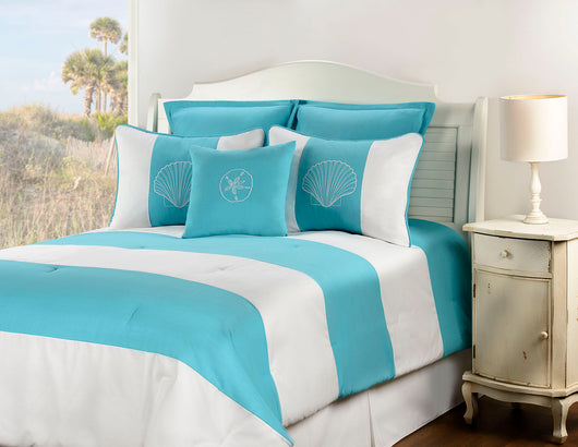 Shell Island Turquoise Fabric