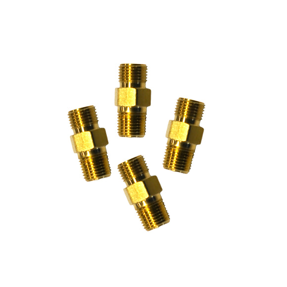 Twin Line to Control Box Male Brass Connectors (Pack of 4)