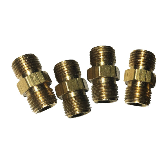 Twin Line Male Brass Extension Adapters (Pack of 4) - 77565/002