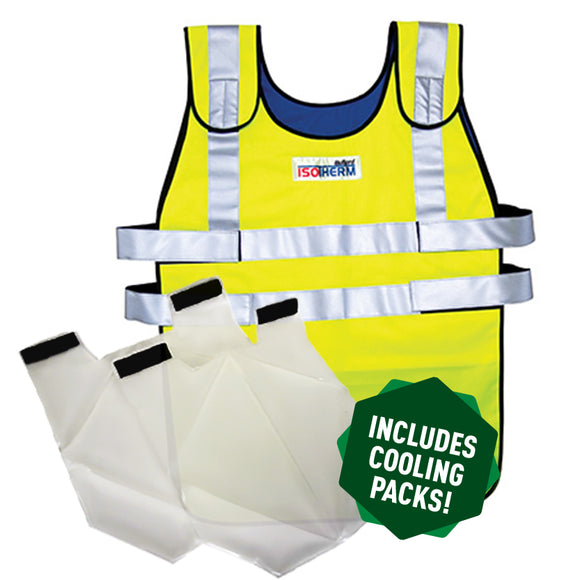 Isotherm 2 Cooling Safety Yellow Vest (XL) - 84455/001