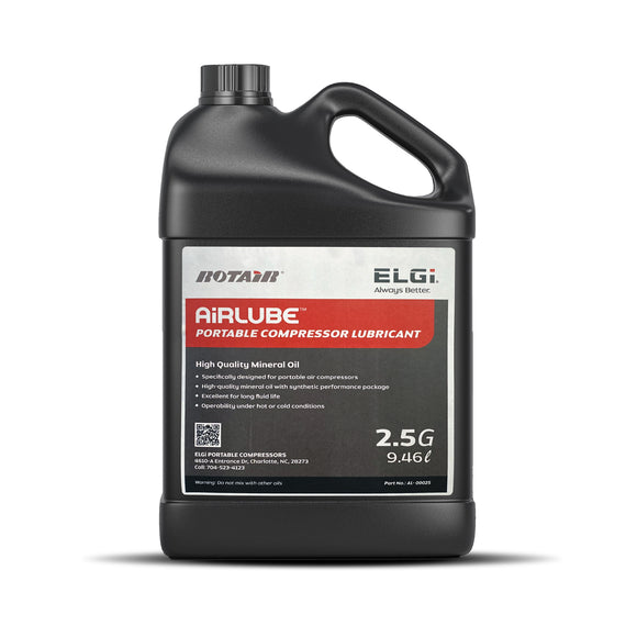 Airlube - Portable Compressor Oil - 2.5 Gallon Container