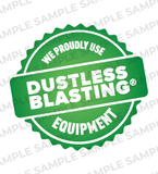 We Use Dustless Blasting® Equipment Badge - Download
