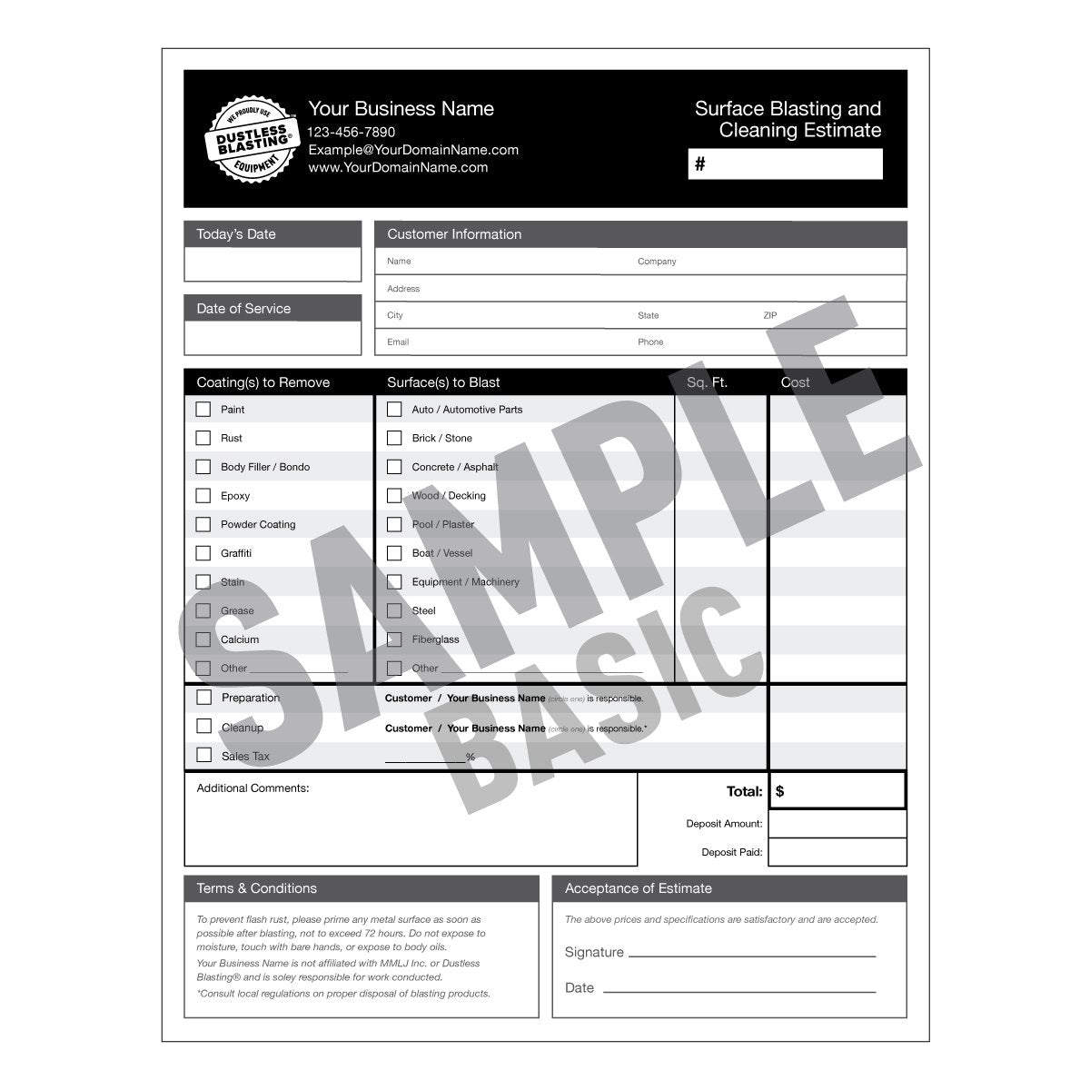 Standard Printed Marketing Bundle - Business Cards, Rack Cards, and Quote Forms!