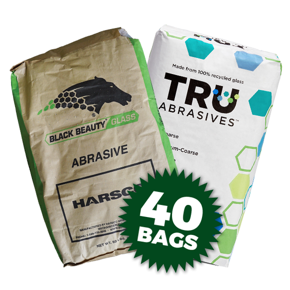 40/70 Recycled Glass Media (50 lbs per bag) - 40 Bags