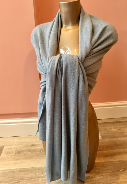 Cashmere Shawl Pierre Blue