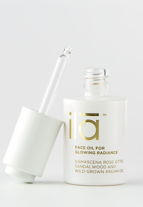 Ila Face Oil for Glowing Radiance 30ml - Prod lid off