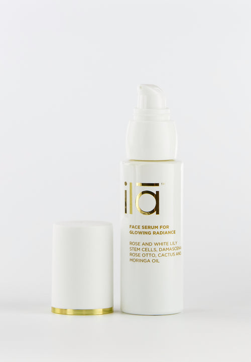 Ila Face Serum for Glowing Radiance 30ml - Prod lid off