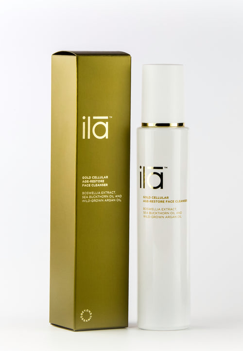 Ila Gold Cellular Age-Restore Face Cleanser 100ml - Prod box