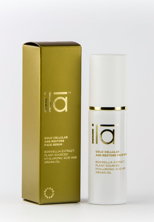 Ila Gold Cellular Age-Restore Face Serum 30ml - Prod box