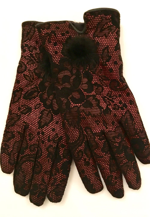 Luxury Leather Gloves - Vintage Lace