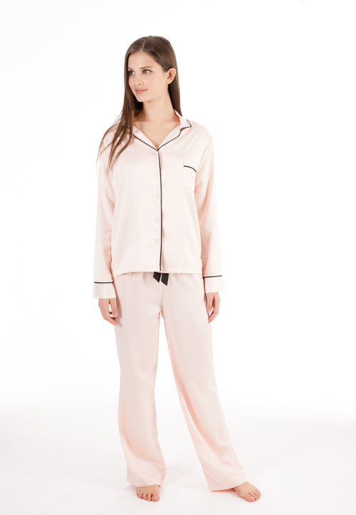 Bluebella - Abigail Shirt and Trouser Set - Pink - Side