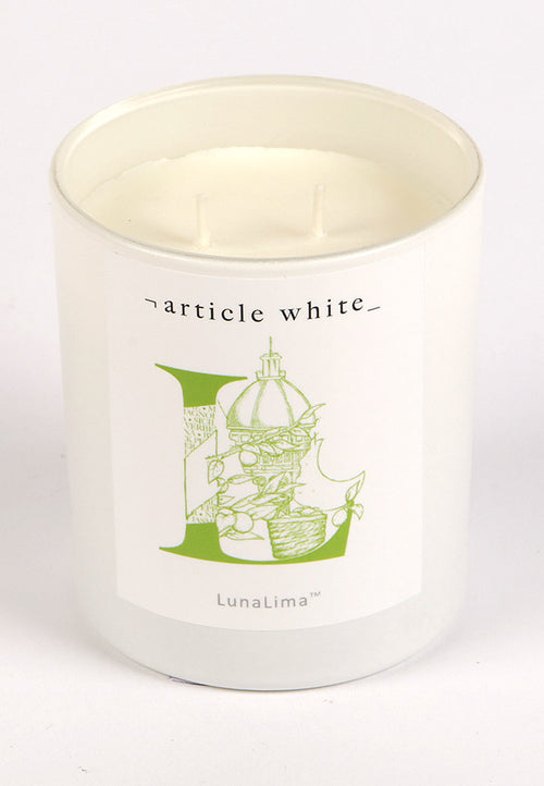 Article White LunaLima Candle