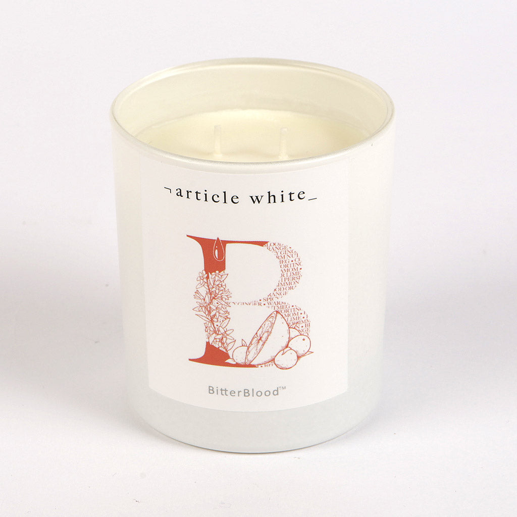 Article White - BitterBlood Candle