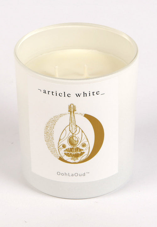 Article White OohLaOud candle