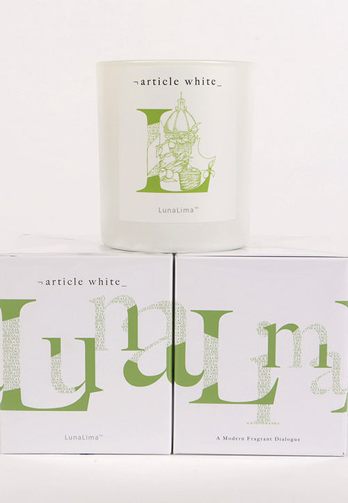 Article White Luna Lima Candles