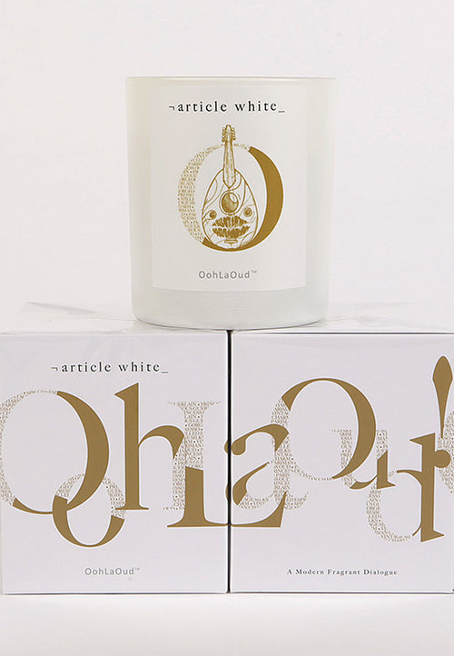 Article White Ooh La Oud candle