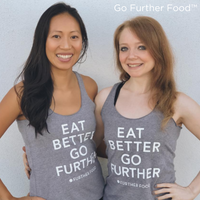 EAT BETTER GO FURTHER FOOD Racerback Tank Tops - Limited Quantities!