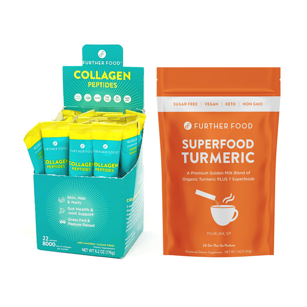 Jetsetter Bundle - Collagen Peptide Stick Packs and Superfood Turmeric Stick Packs
