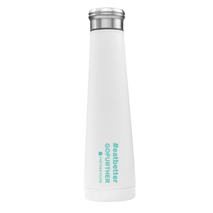 #eatbetterGOFURTHER Stainless Steel Vacuum Insulated Water Bottle, 16 oz.