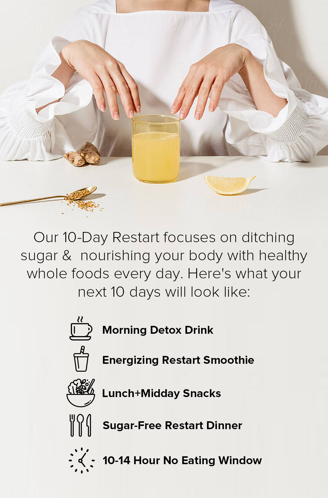 A Day on the 10-Day Restart: SUGAR DETOX PLAN