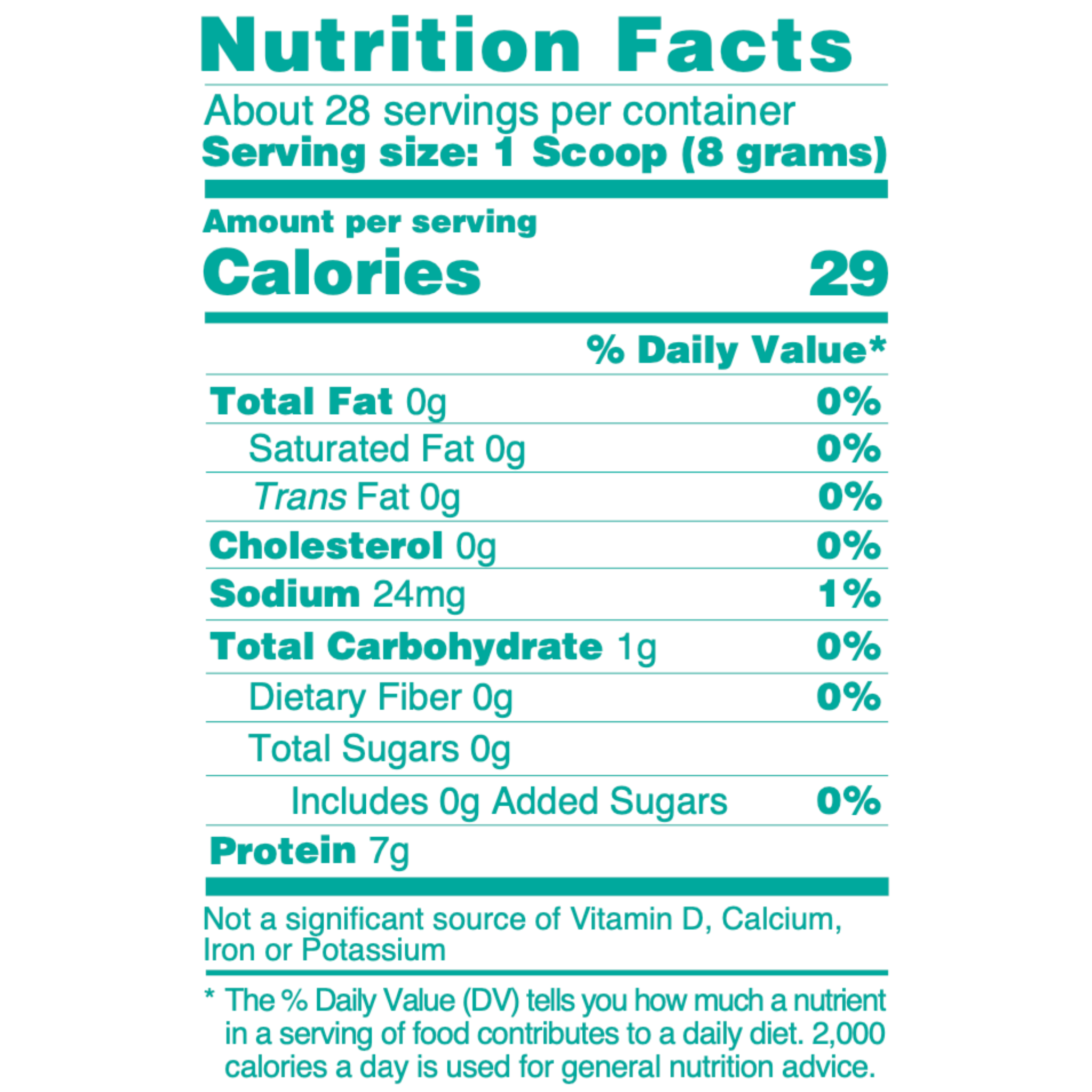 COLLAGEN PEPTIDES NUTRITIONAL INFORMATION