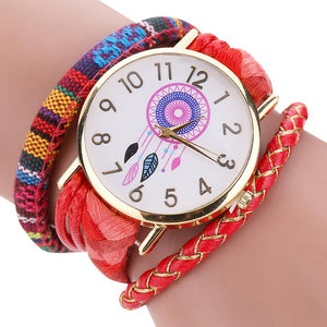 Sleek and Stylish Bohemian Dreamcatcher Bracelet Watch