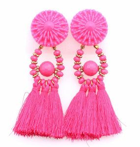 Boho Vintage Ethnic Tassel Earrings