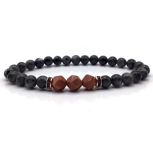 Classic Stone Beaded Bracelet for Men