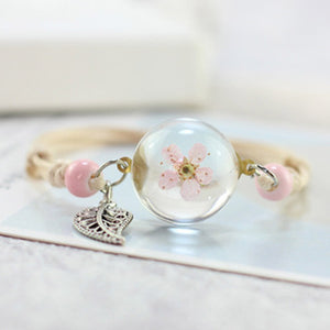 Glass Ball Flower Bracelet