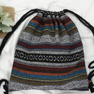 Boho Chic Drawstring Backpack