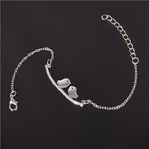 Simple Style Silver Plated Charm Bracelet Jewelry