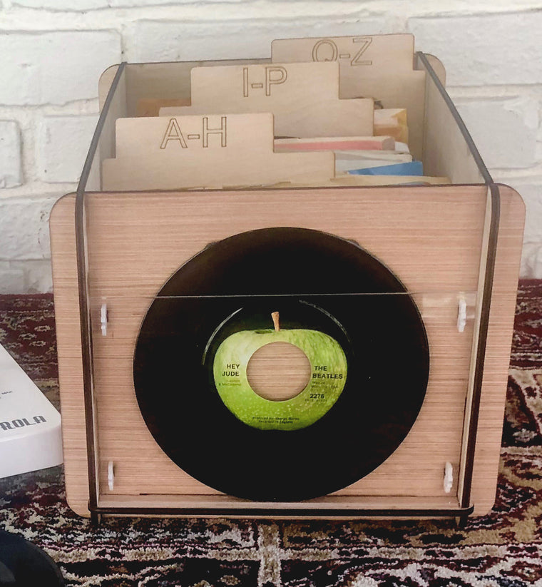 45 RPM Record Storage Box Plus Record Frame and 3 Dividers for 45s or 7 inch Disc