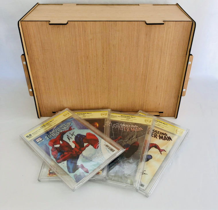 CGC - CBCS - PGX Slabbed Comic Book Storage Box Stores & Protects Valuable Comics