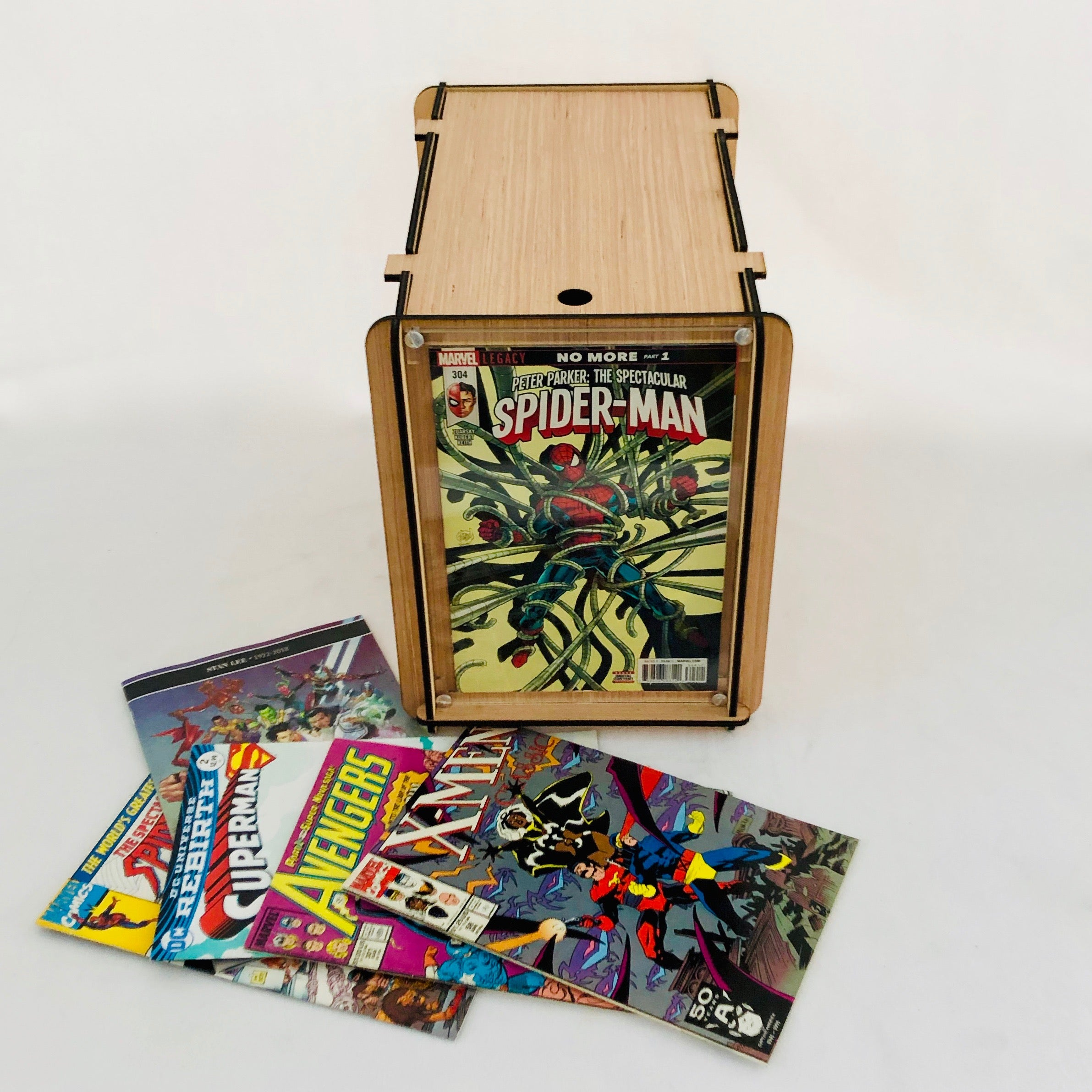 Comic Book Storage and Display Box with Lid-Free Shipping in the U S