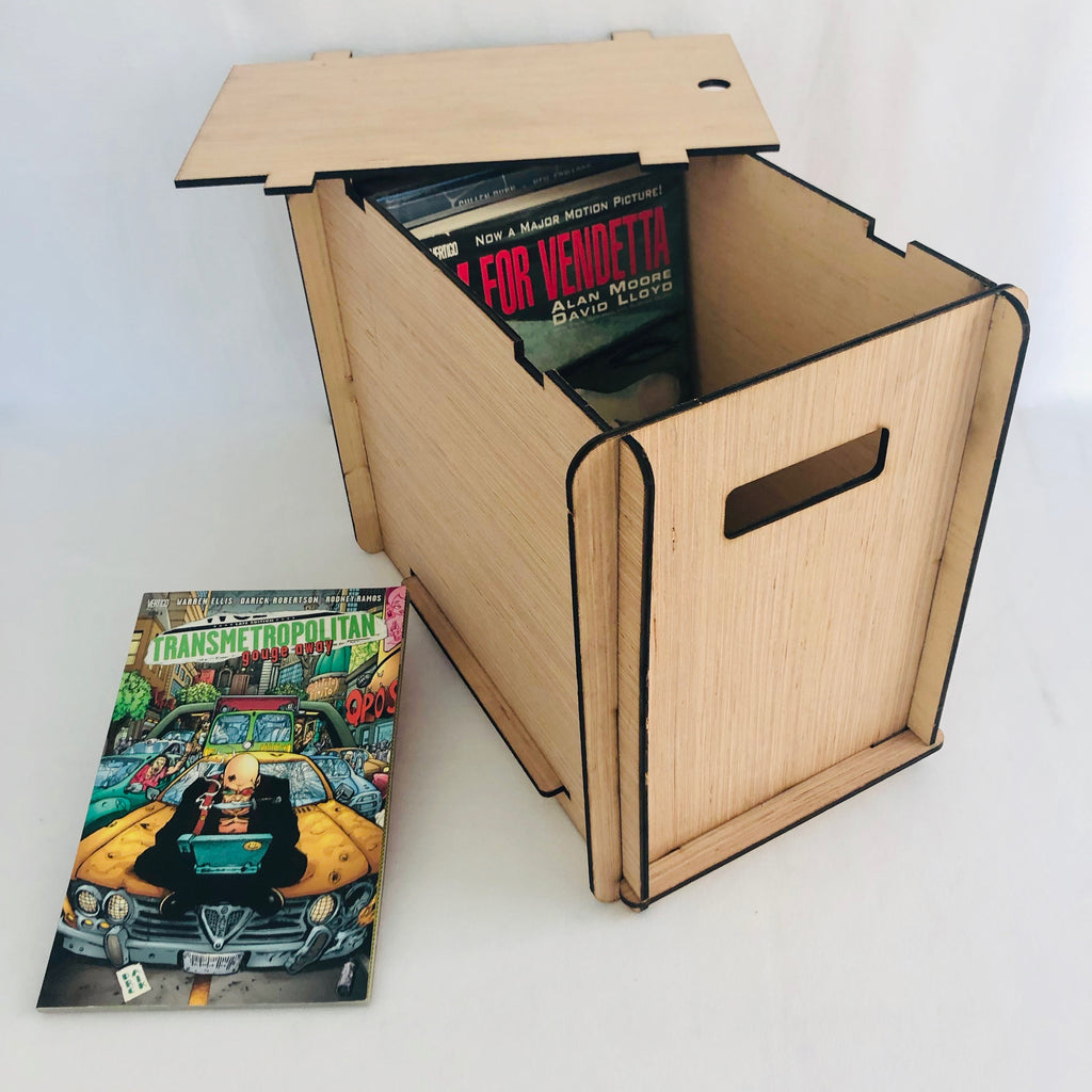 Graphic Novel/Underground Comix Storage & Organizer Box with set of 4 Dividers