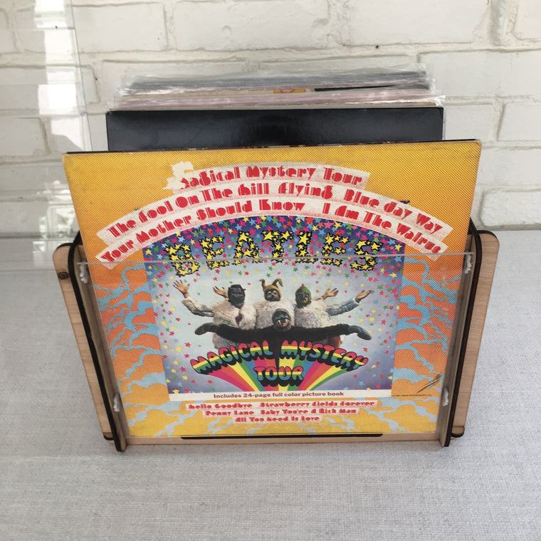 "The Beatles ""Magical Mystery Tour"" Vinyl Record Album and Record Storage and Display Crate - Great Gift Idea"