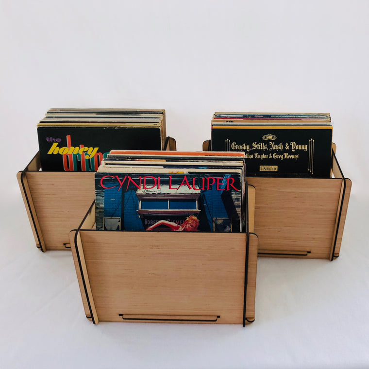 Vinyl Record Storage Crates  These Wood LP Record Boxes come in a 3 pack for added savings and  Free U.S. Shipping