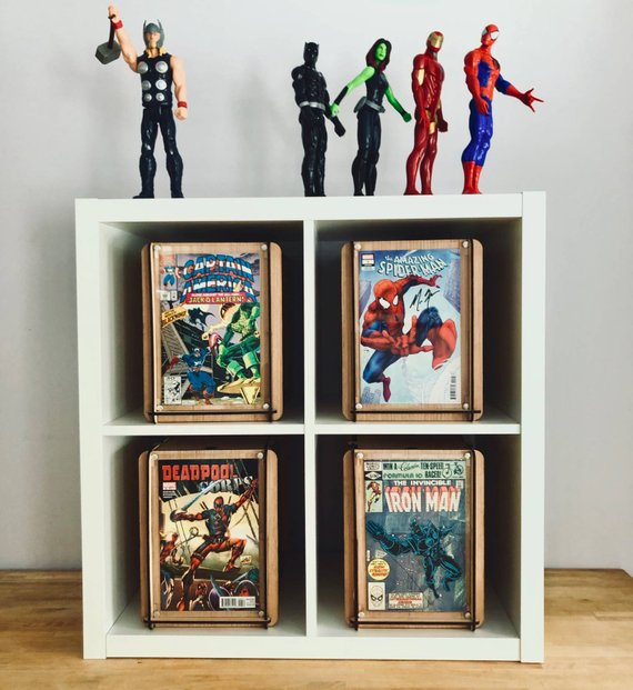 Custom Listing 4 Comic Book Boxes with Display Free US Shipping