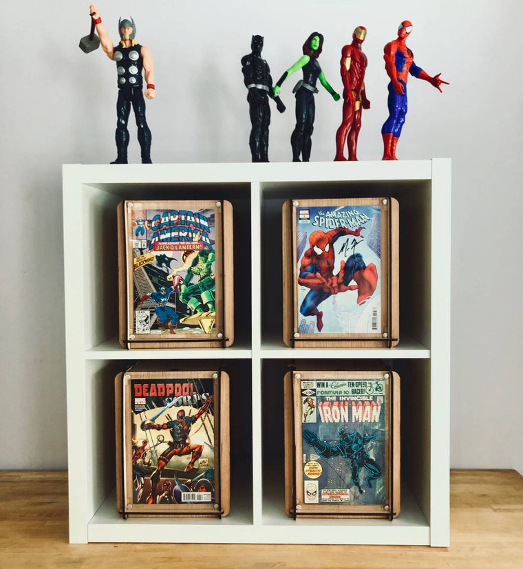 Collectors Ten Pack 10 Comic Boxes with Acrylic Frames - With Shipping Included