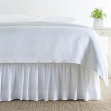 Classic Hemstitch White Queen Bedskirt