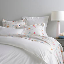 Classic Hemstitch White Queen Duvet Cover