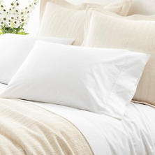 Classic Hemstitch White Twin Sheet Set