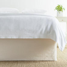 Diamond White Q Bedskirt