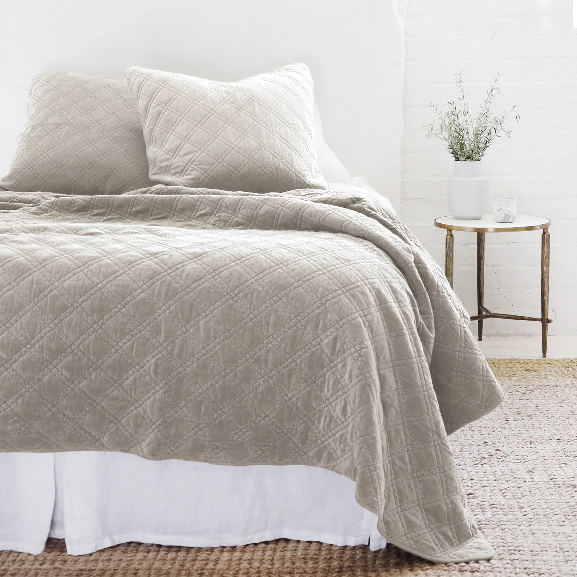 Brussels Taupe King Coverlet
