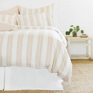 Carter Ivory/Amber Duvet Cover Queen