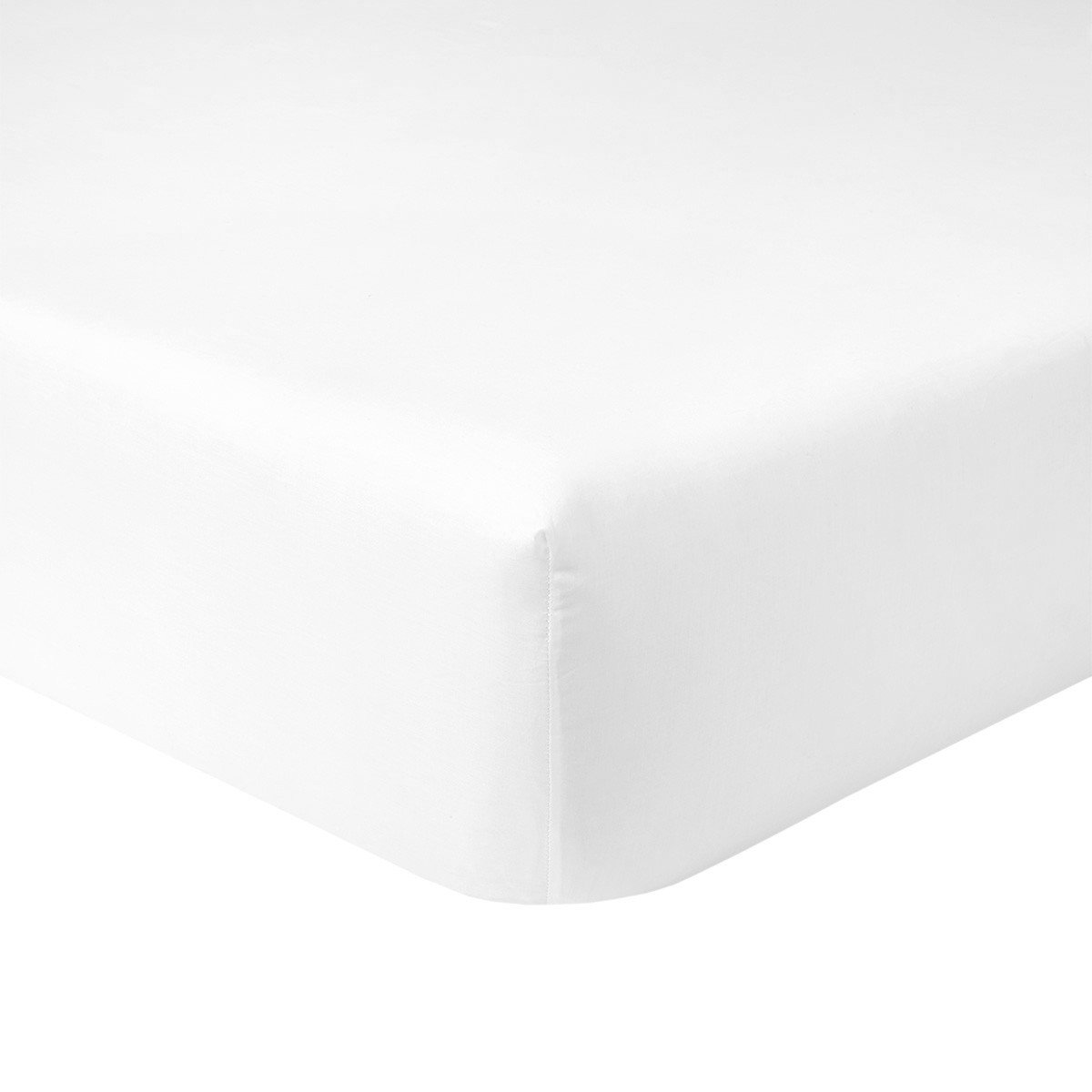 Flandre Blanc King Fitted Sheet