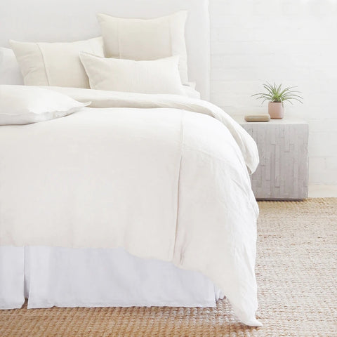 Louwie 100% Linen Cream Standard Pillow Case